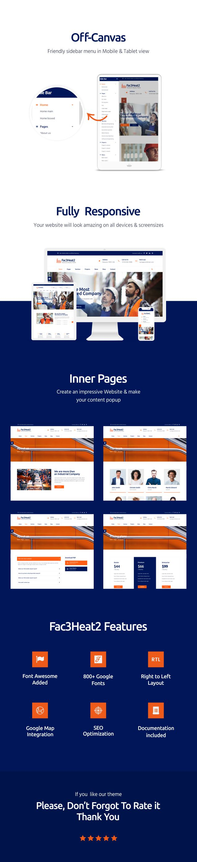 Fac3heat2 – Factory, Industry, Engineering Joomla Template - 2